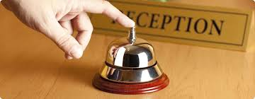 image of hotel reception button